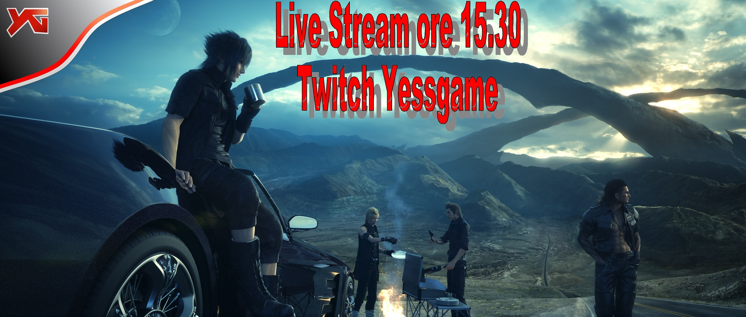 Final Fantasy XV live stream su Twitch