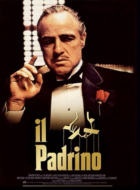 "Poster for the movie ""Il padrino"""