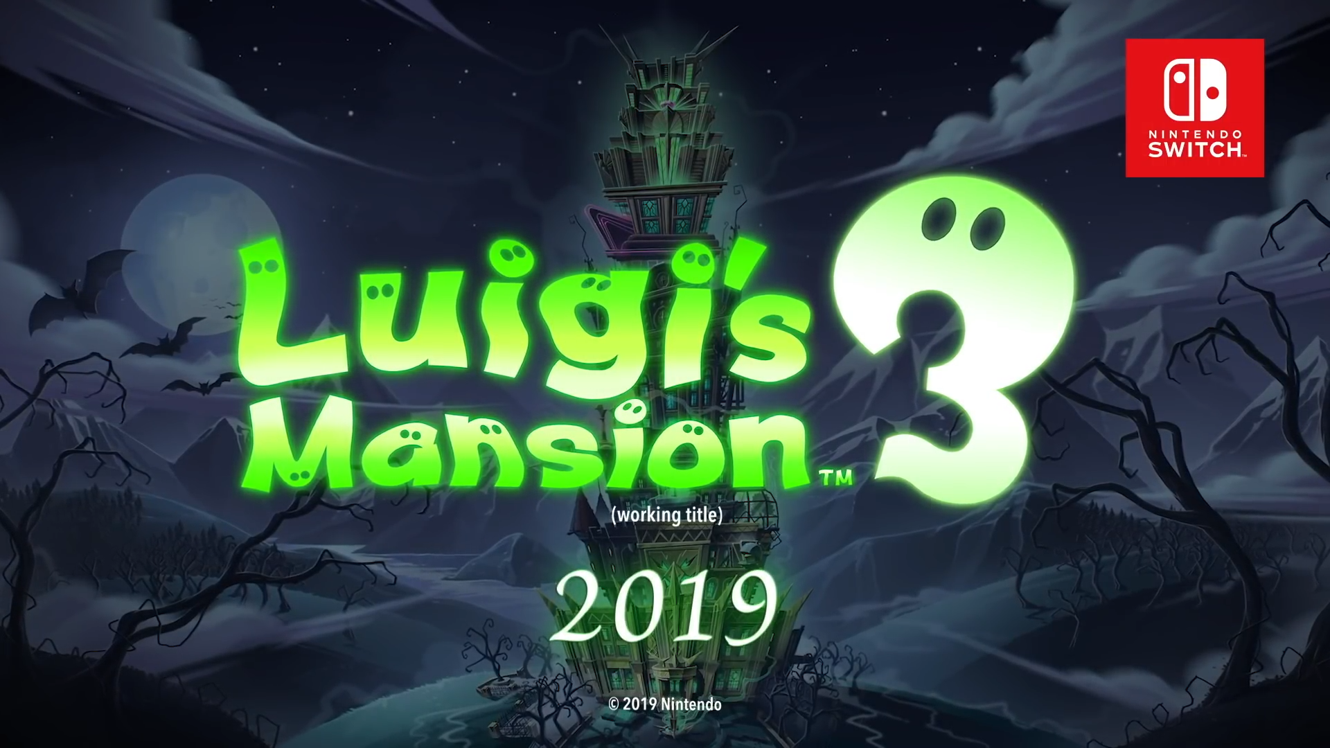 Luigi's Mansion 3 Title
