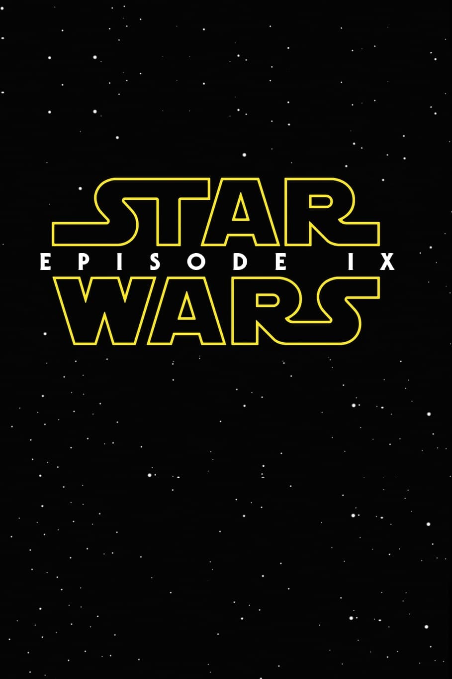 """Poster for the movie """"Star Wars: Episodio IX"""""""