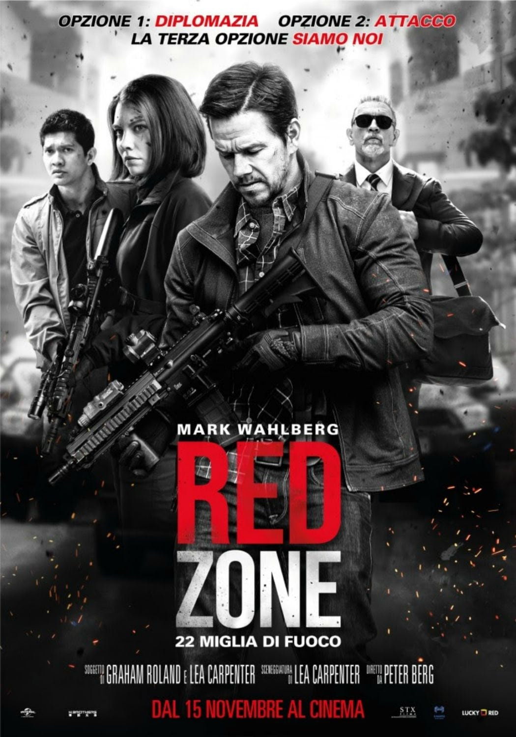 "Poster for the movie ""Red Zone - 22 Miglia di Fuoco"""