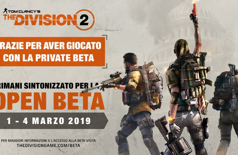 The Division 2: Annunciata l'Open Beta