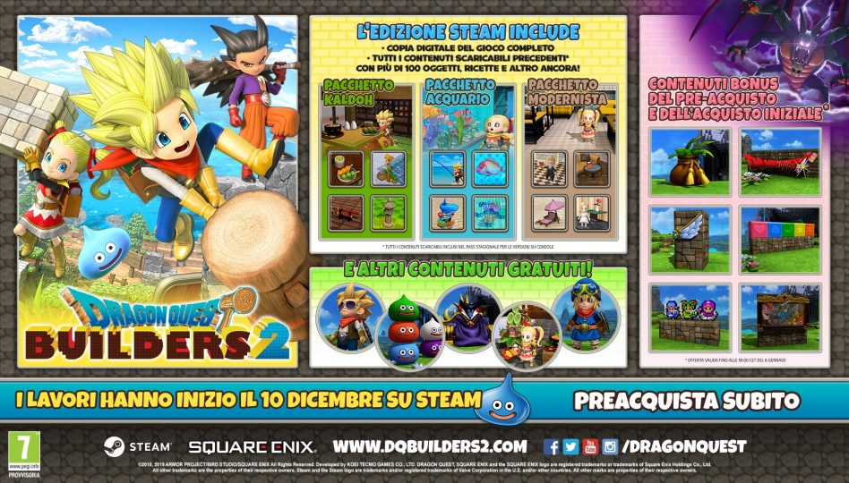 Dragon Quest Builders 2 PC Preorder